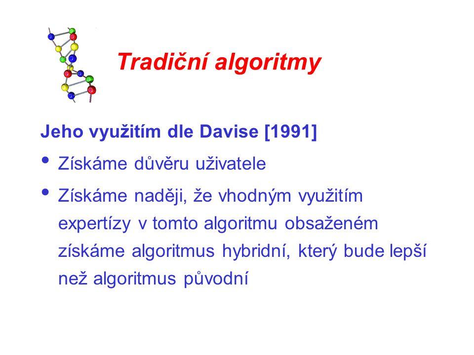 Tradiční algoritmy Jeho využitím dle Davise [1991]